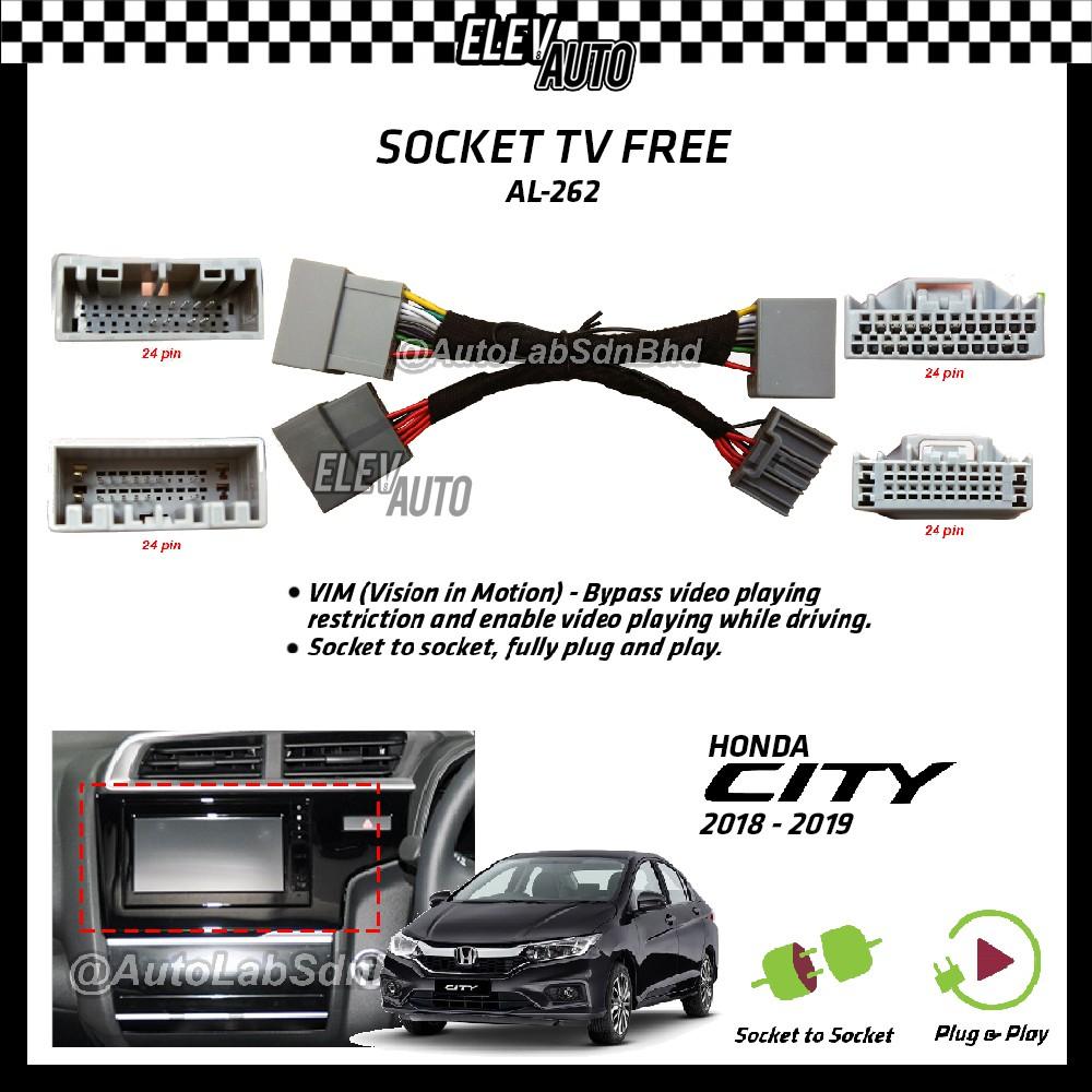 Honda City 2018-2019 Socket TV Free (Bypass VIM) AL-262