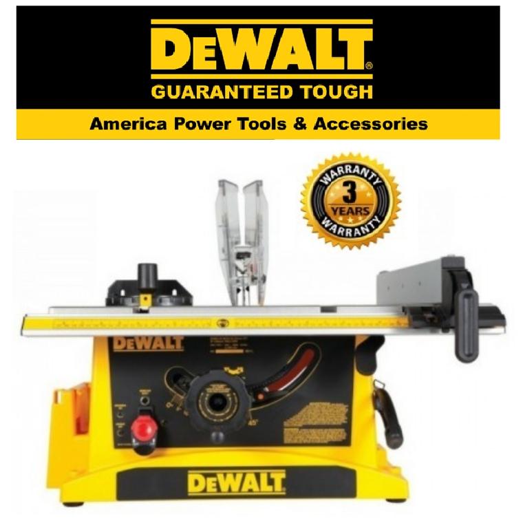 READY STOCK!!!DEWALT DWE7470-B1 TABLE SAW 1800W 10 / 254MM TABLE SAW EASY USE SAFETY GOOD  QUALITY