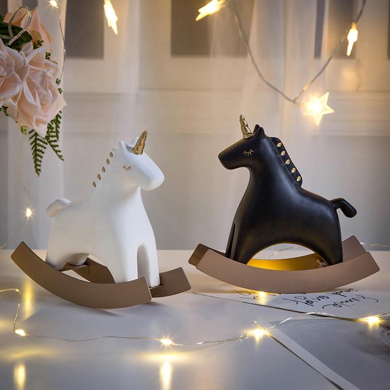 Ins Creative Decorations Trojan Horse Small Unicorn Decoration Desktop Modern Home Living Room Children S Room Bedroom Decoration Shopee Malaysia