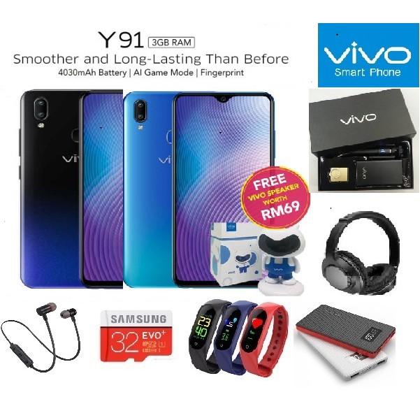 VIVO Y91🎁 Free Gifts 🎁|3GB RAM 64GB| Original Vivo Malaysia