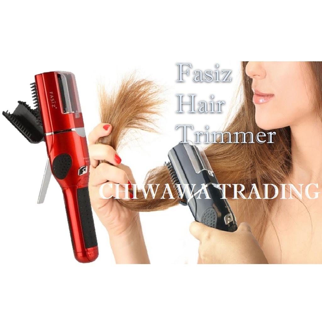 Fasiz Electric Cordless Split End Hair Trimmer Ender Trim Split End Rambut (Red)