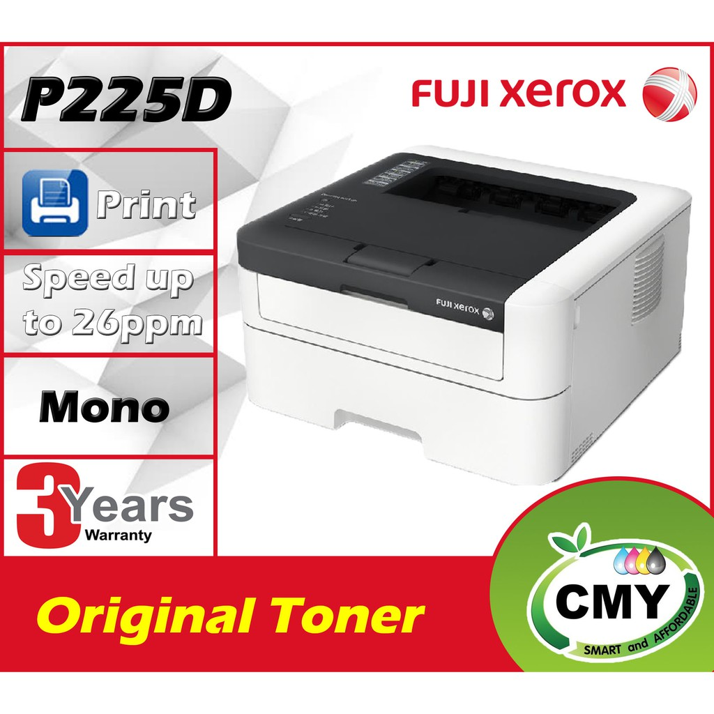 Fuji Xerox DocuPrint P225d Duplex Network Laser Printer