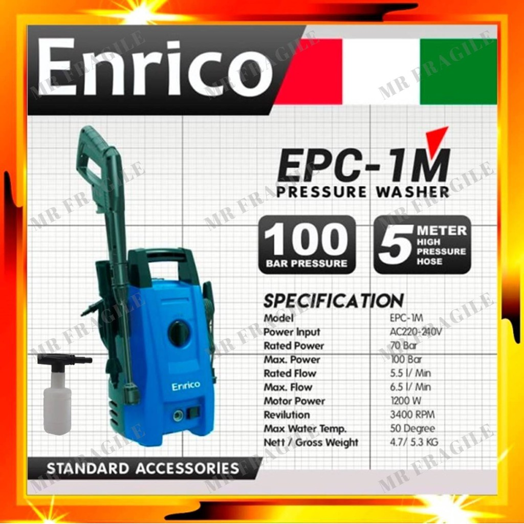 Enrico EPC-1M High Pressure Cleaner Water Jet waterjet ECP 1M High pressure Washer / Cleaner