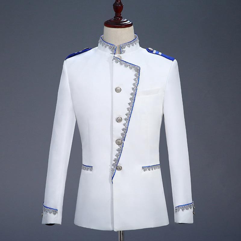 Court Prince Blazer Men Stage Wedding Groom Slim Fit Suit Jacket Homme Costume Shopee Malaysia