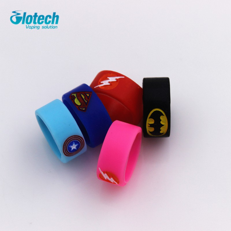 Glotech 10pcs silicone rubber vape ring decorative band for mechanical mod  18650
