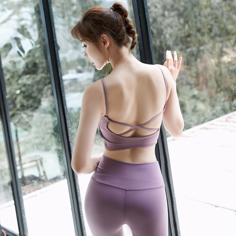 Padded Strappy Back High Impact Seamless Sports Bra ActiveWear Gym Yoga WorkOut