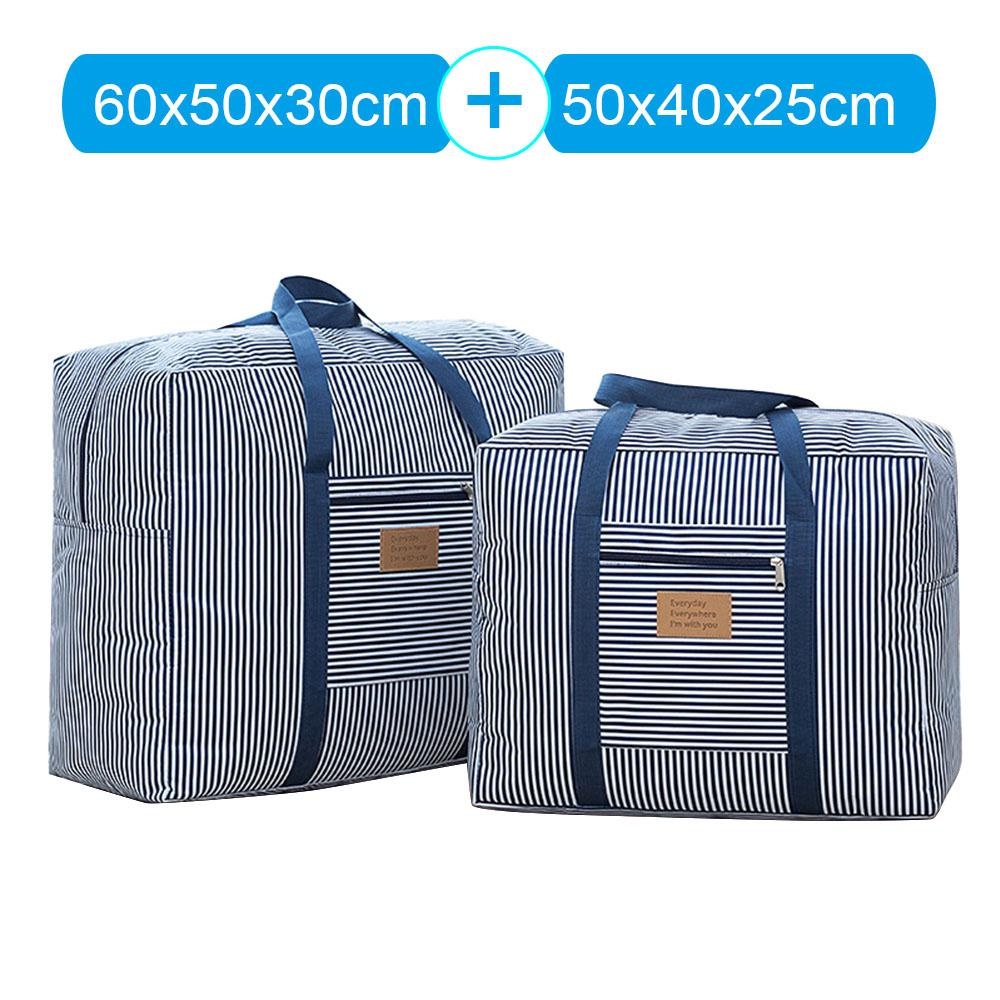 9643e94a412f 2 Pcs Light Weight Portable Polyester Quilt Travel Luggage Hand Bag ...