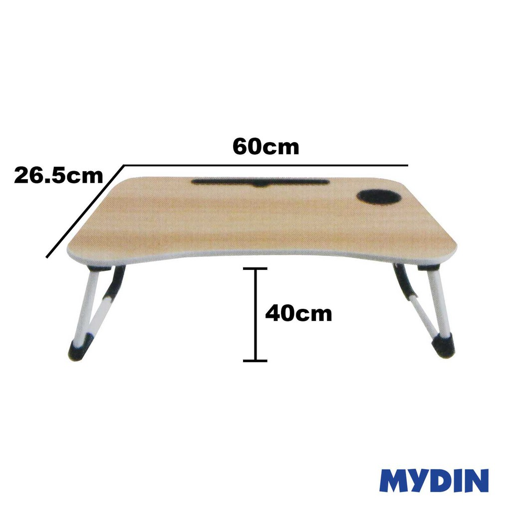 My Home Foldable Laptop Desk with Cup Holder / Tablet Slot (KTCD8511) - 3 Colours