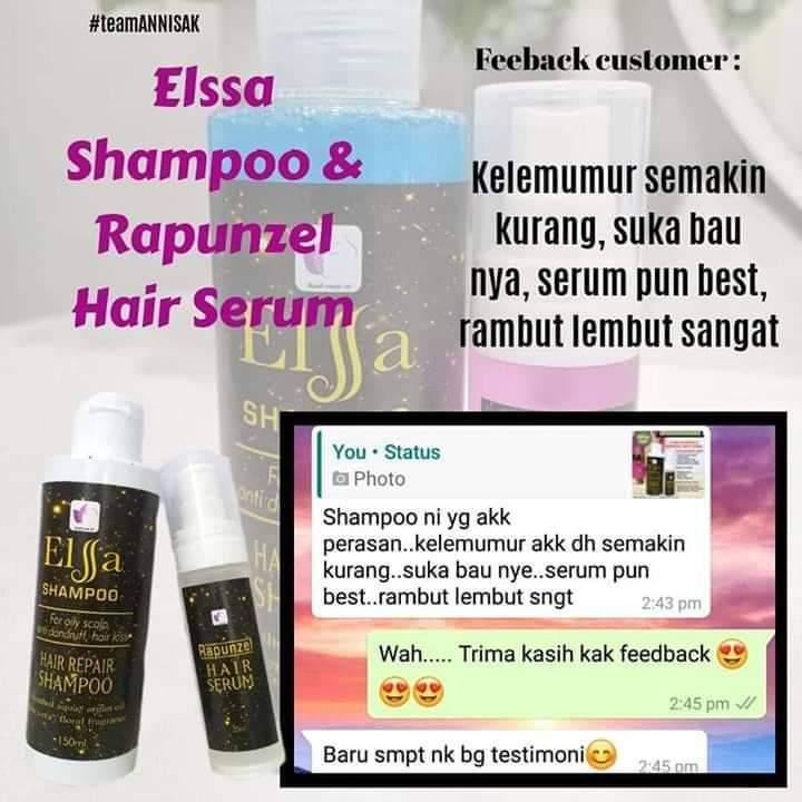 Shampoo Elsa Susuk Manja SME 150ml Hilang Kelemumur, Kegatalan Kulit Kepala, Syampu Elsa, Anti-dandruff, Rambut Gugur