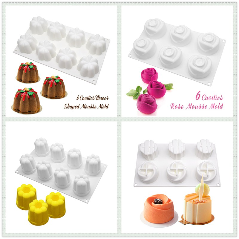 3D Silicone Cake Chocolate Mold Fishing Tool Decorating Pastry Baking Tools