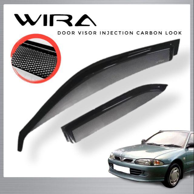 Proton Wira Door Visor Injection Carbon Look