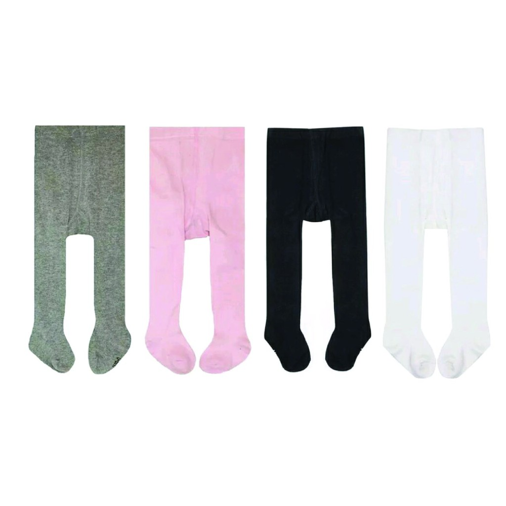 Baby Tights Cotton Rich Plain Baby Girls Tights Soft and Comfortable