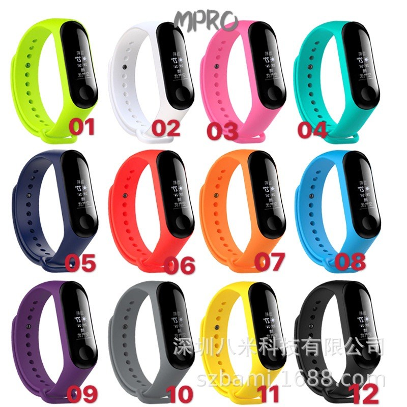 Xiaomi Mi band 4 Silicone Strap for Xiaomi Mi Band 3 Replacement Colourful Wristband  Multicolor Bracelet for MiBand