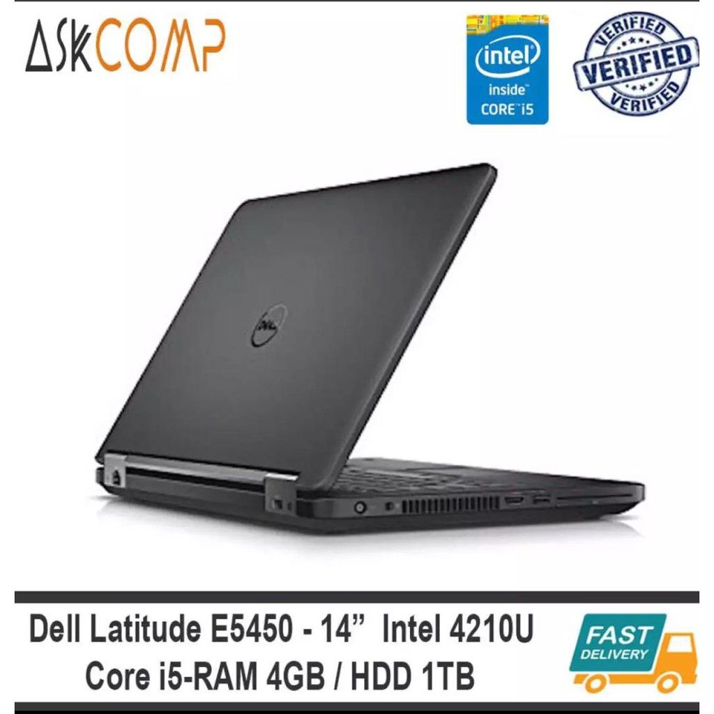 DELL LATITUDE E5450 CORE I5-4210U 4GB RAM | 1TB HDD [GRADE A REFURBISHED]