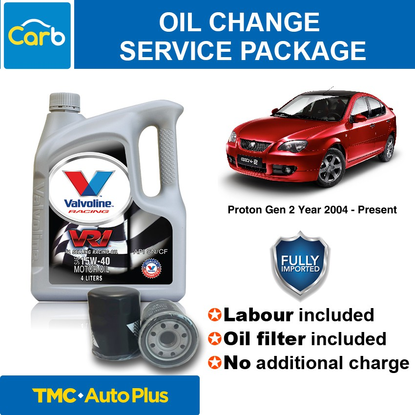 Proton Gen2 15W40 Valvoline Mineral Engine OIl 4L + Oil Filter +  Installation