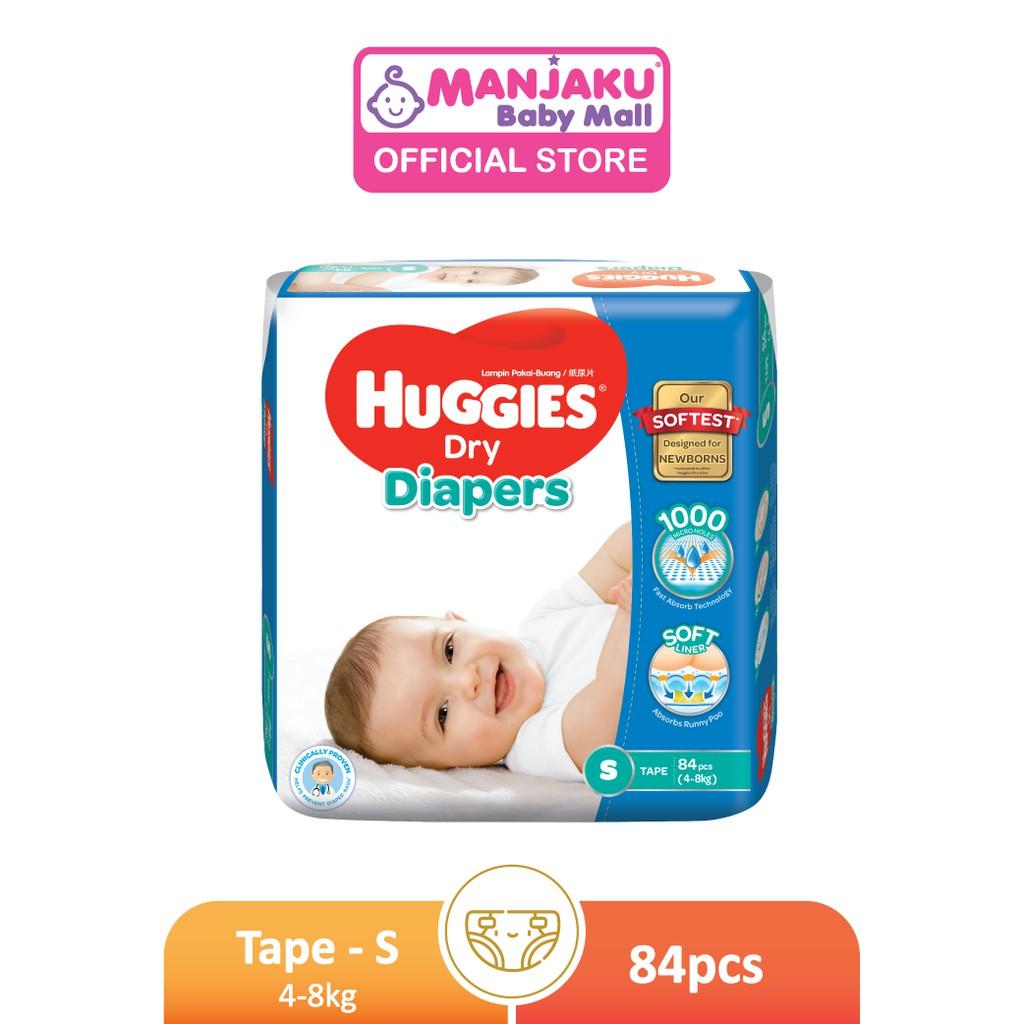 Huggies Dry Diapers Super Jumbo Pack - S/M/L/XL/XXL