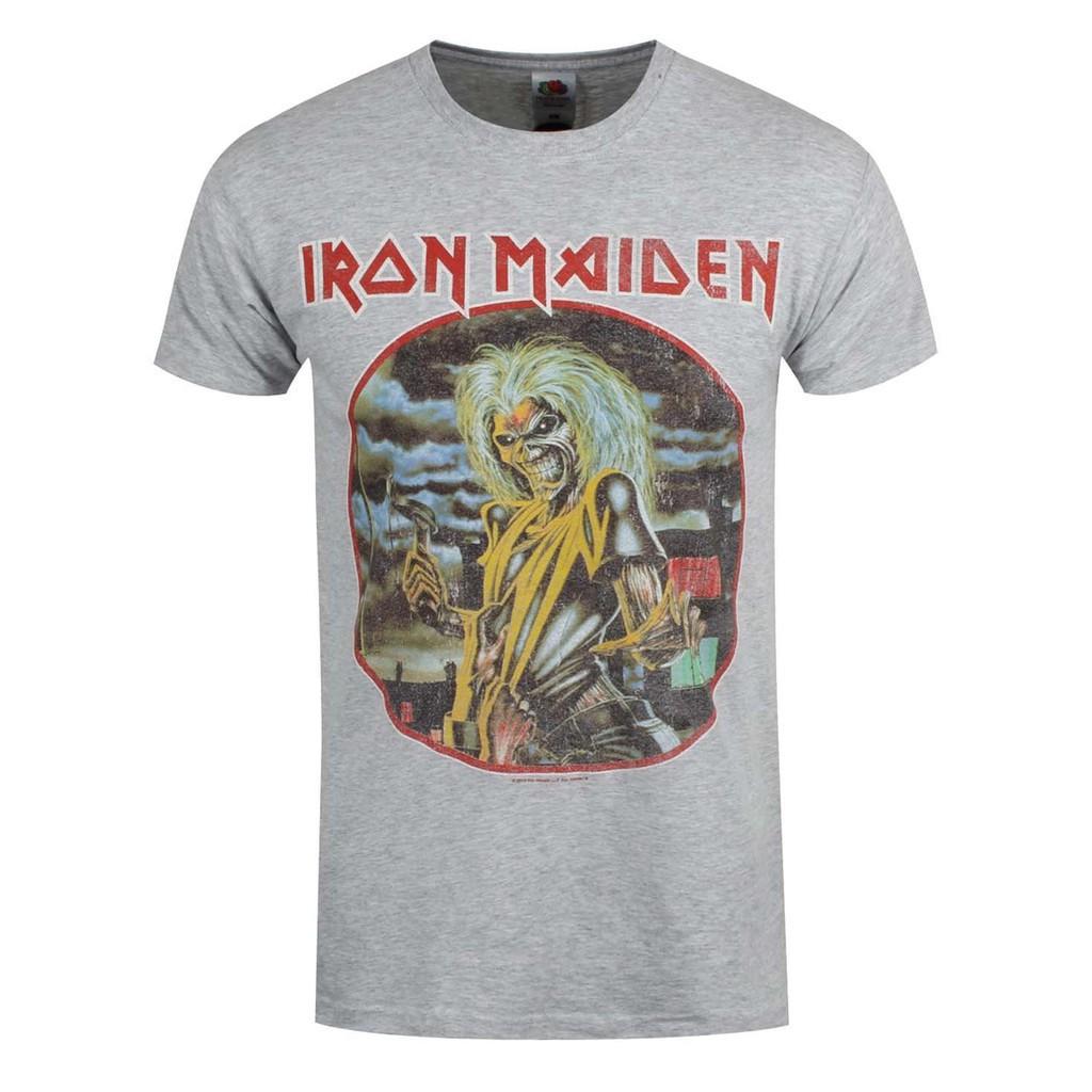 timeless design 13877 cbbc3 Men's Casual Iron Maiden Killers Circle Men T-shirt Heather Grey