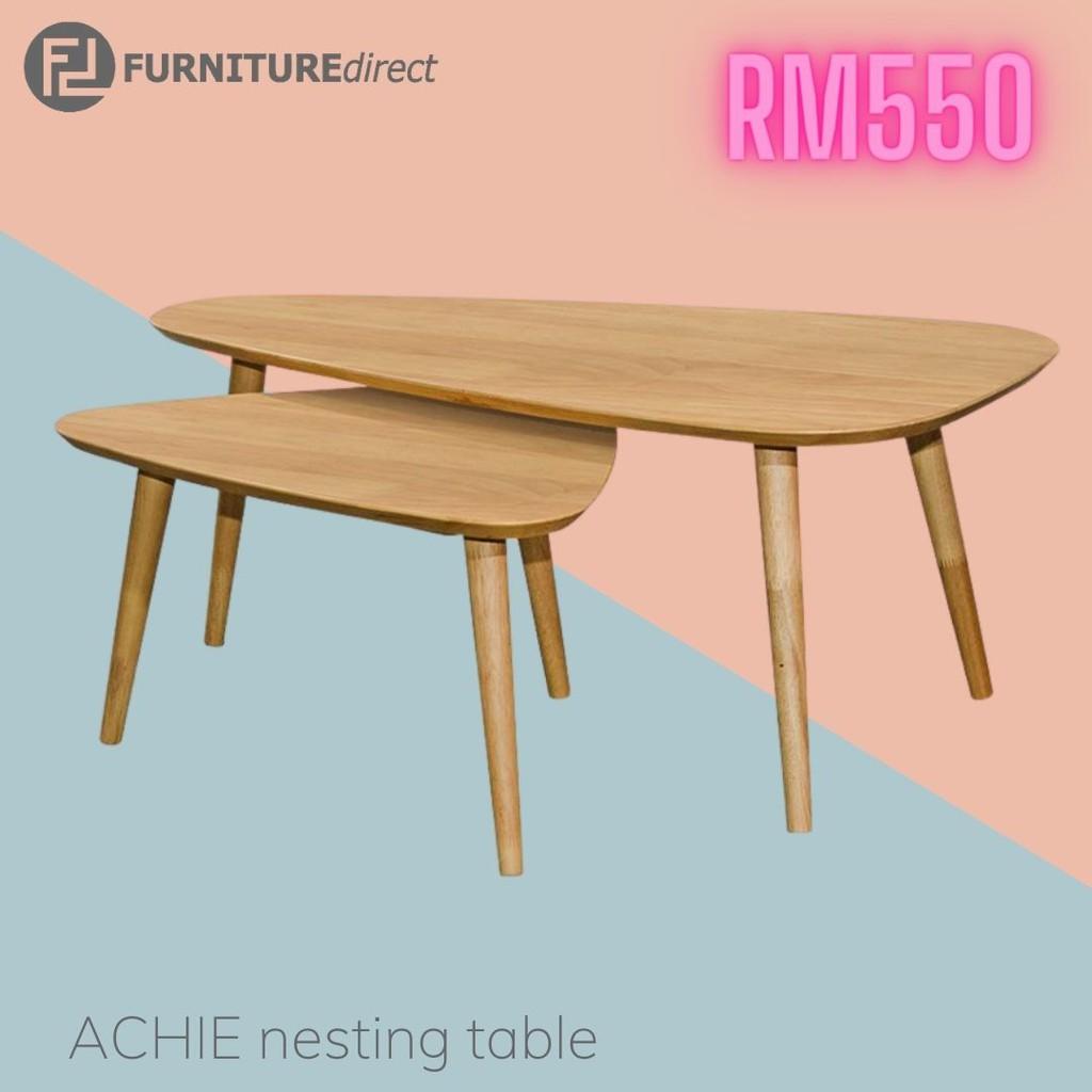 [ FREE SHIPPING ] ARCHI Scandinavian solid wood triangle nesting table-walnut