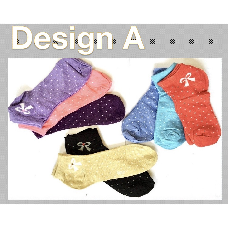 Fashion Women Girl Short Cotton Socks Creative Design Soft Sports Casual Comfortable Ankle Socks