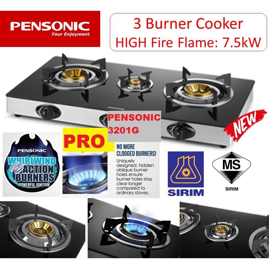Pensonic 3 Burners Gas Cooker Pgc 3201g