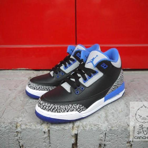 half off 5b53c bbd27 ZZ AIR JORDAN 3 RETRO BG AJ3 398614-007 Basketball shoes original men sport  blue