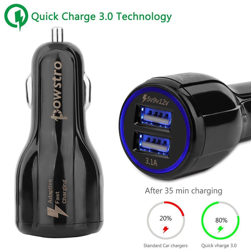 Dual USB QC3.0 Fast Car Charger Quick Charge 3.0 With Micro USB Cable ly | Shopee Malaysia
