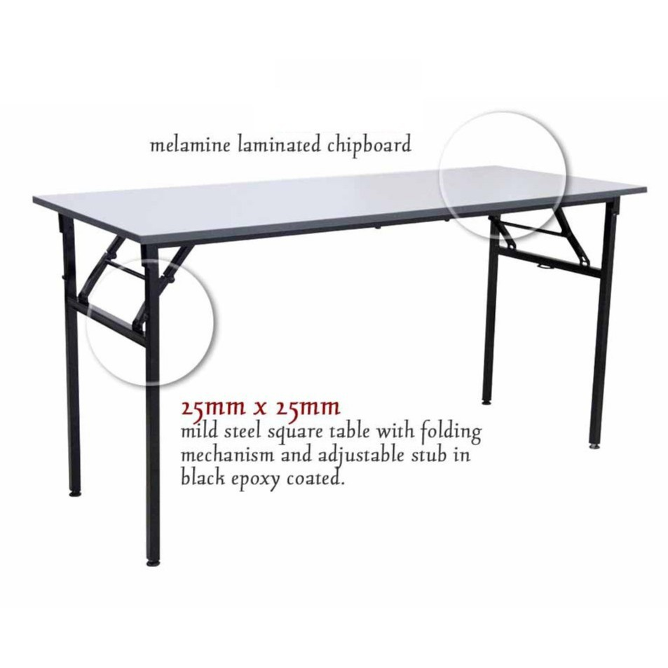 - JH Water Resistant Folding Table Top Heavy-Duty Foldable Table