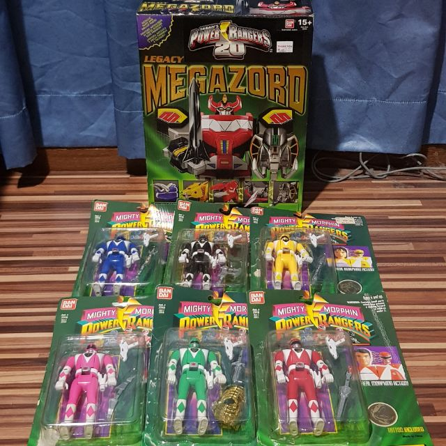 Mighty Morphin Power Rangers Legacy Red Ranger Figure Build a Megazord in Stock