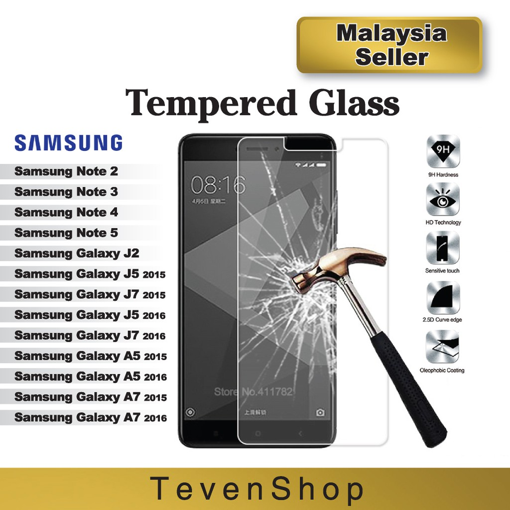 Samsung Note 2 3 4 5 S3 S4 S5 J2 J5 J7 0 26mm Tempered Glass Screen  Protector