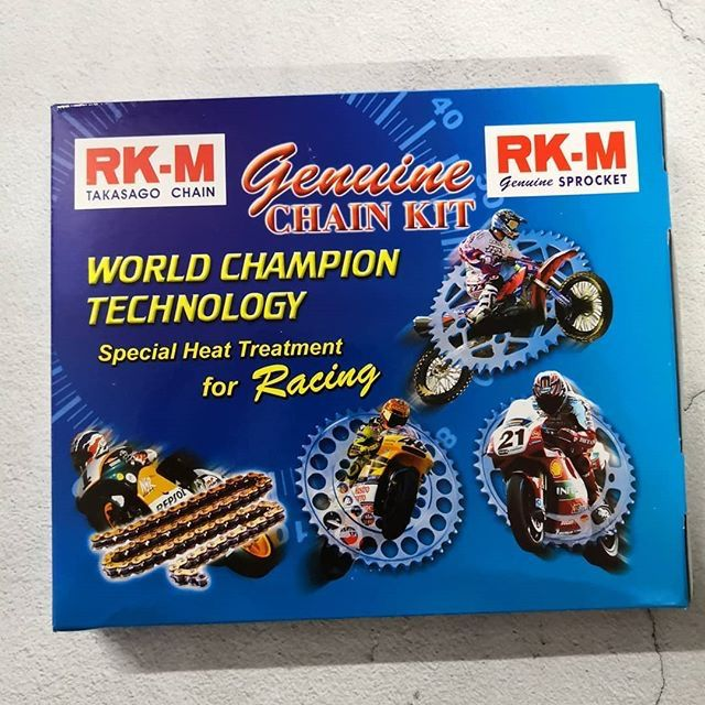 RKM Chain Set Sprocket 428M Rantai