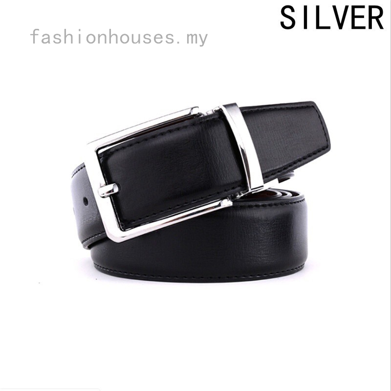 Men's Buckle Leather Belt Students Korean Casual Business Belt Leather Wild Young Belt