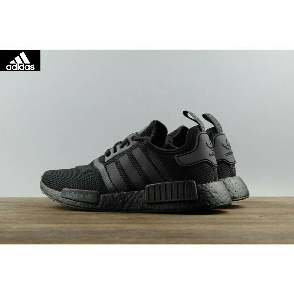 Adidas NMD R1 Triple Black S31508 all-black webshoe sneakers ... 38f5b460c7