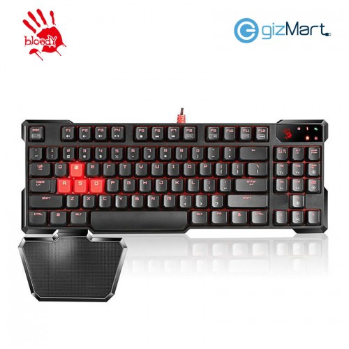 9136d1a0a47 BLOODY B418 Infrared 8 Light Strike Switch Gaming Keyboard-Silver | Shopee  Malaysia