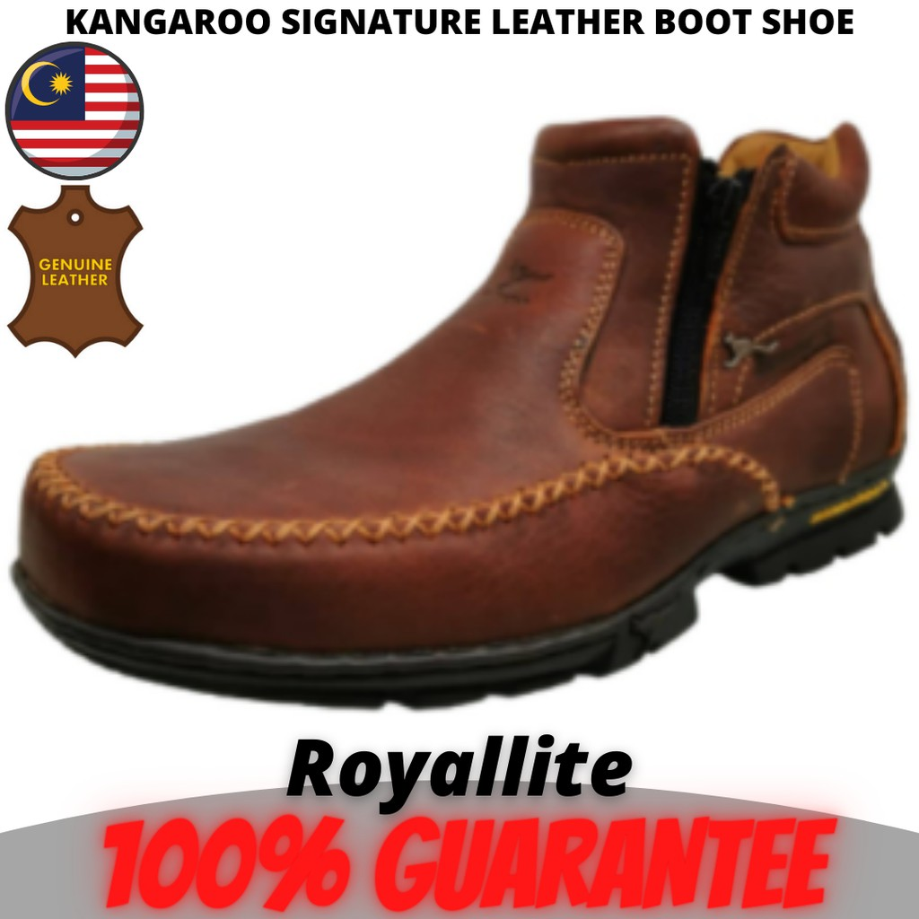 KANGAROO MEN SIGNATURE COMFORT LEATHER Boot (8801) A32Brown