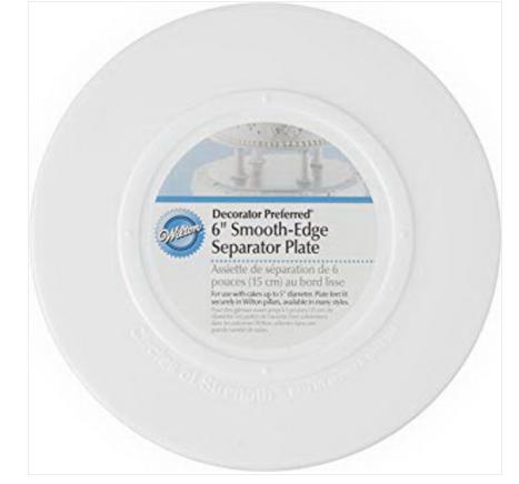 "Separator Plate - Round, Smooth Edge, 6"""