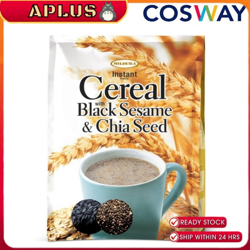 Cosway Mildura Instant Premix Cereal with Black Sesame & Chia Seed  35g x 15