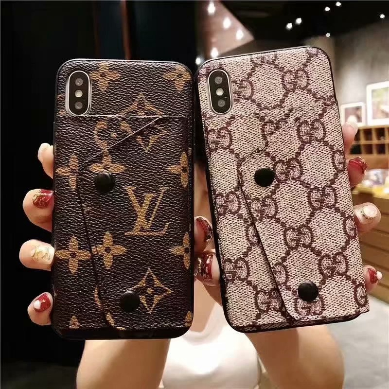 on sale 81200 f2df0 LV high quality leather case for Iphone 6 6s 7 8 Plus X XS Max XR Luxury  cover