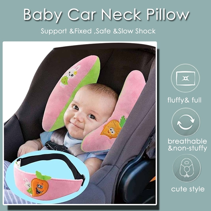 ❤ Infant Head Support Car Seat Stroller Baby Pillow Neck Travel Safety Full Body