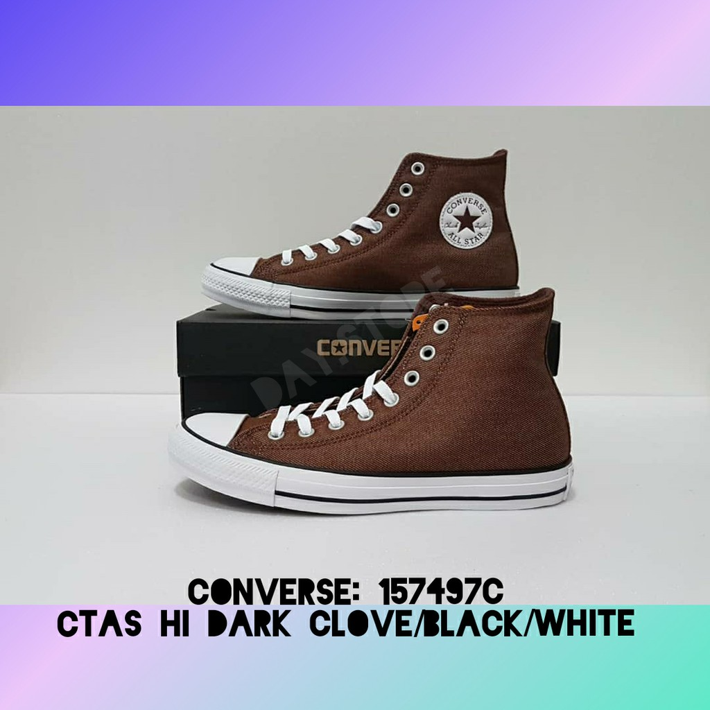b2a87a5f0819 CONVERSE - CTAS HI DARK CLOVE BLACK WHITE (PRELOVED ITEM-NEW ...