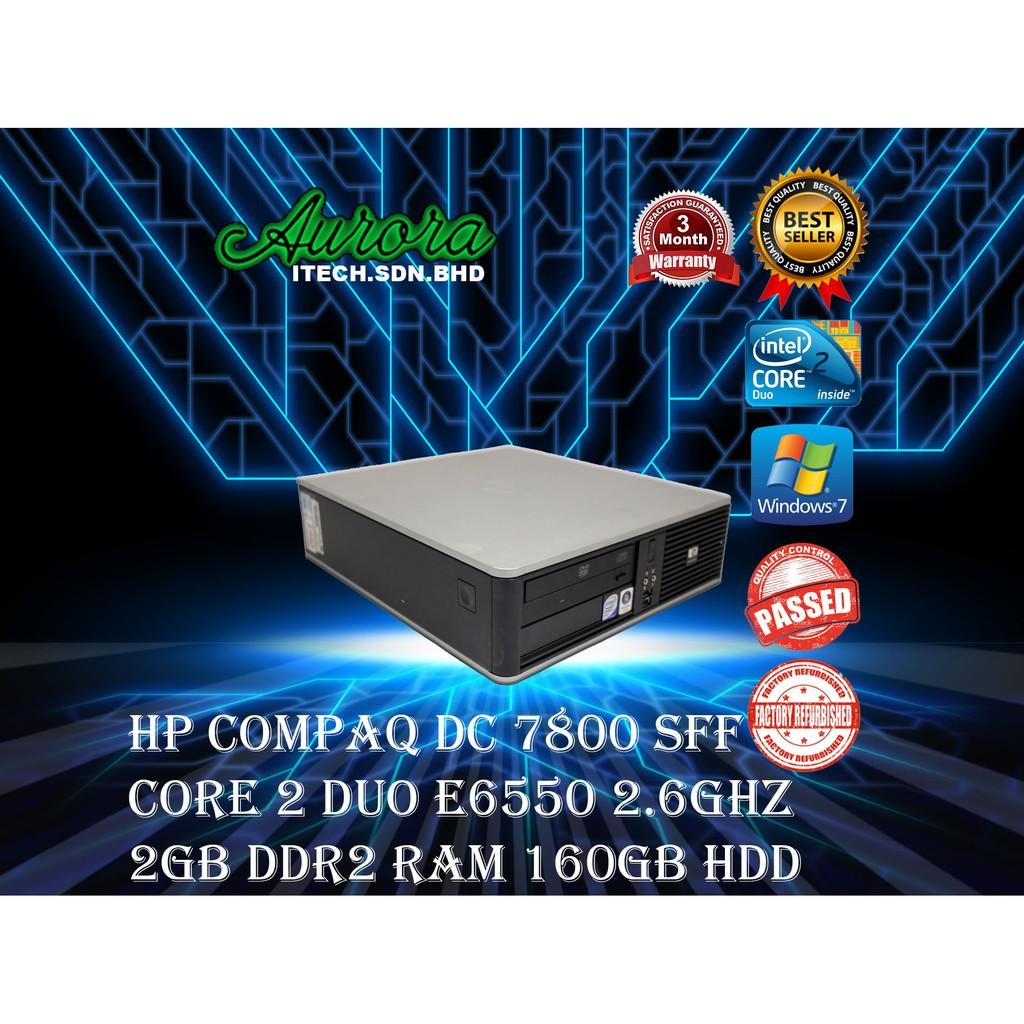 (REFURBISHED) HP Compaq DC 7800 SFF / INTEL CORE 2 DUO E8500 3 16 GHZ