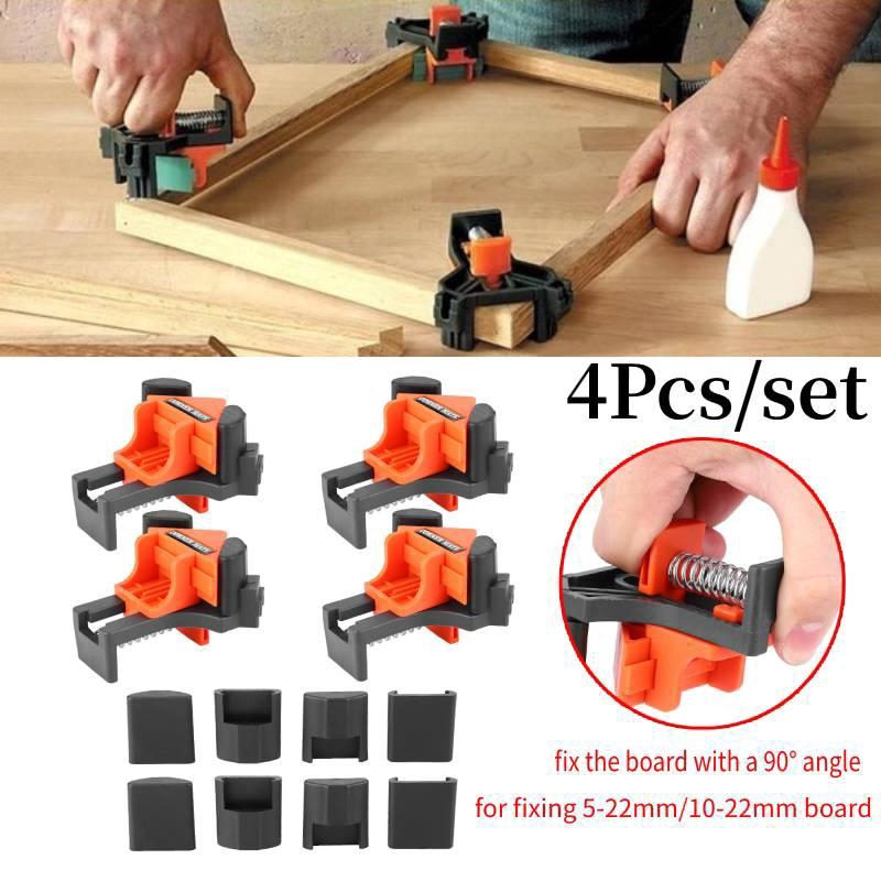 Suitable For Fixing 5-22mm // 10-22mm Board Wood Corner Clamp 90 Degree Straight Angle Clamp Woodworking Tool
