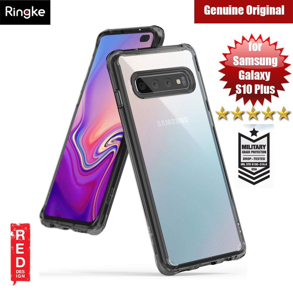 Ringke Fusion Drop Protection Case for Samsung Galaxy S10 Plus (Smoke Black)