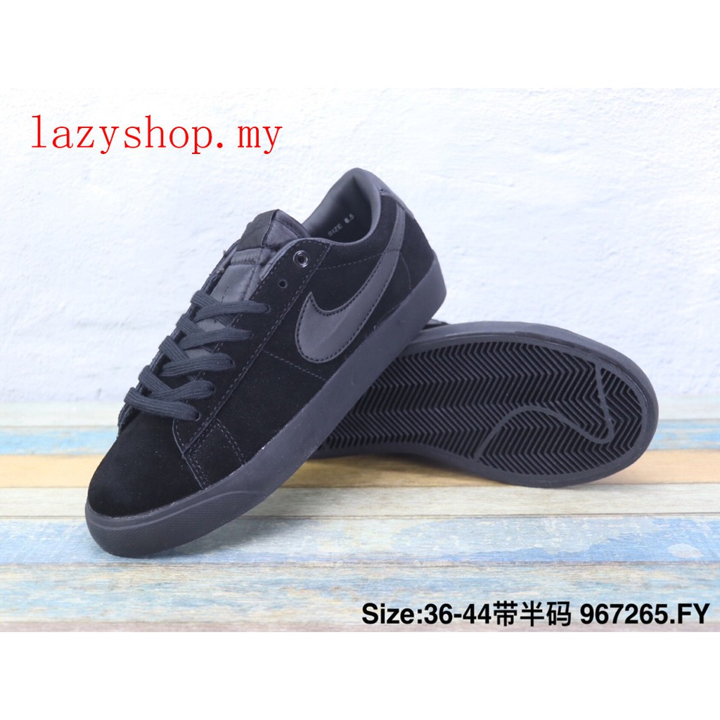 fbc122a2bb Hot Sale Nike Blazer Low Women Men Low Tops Sneakers Skate Shoes casual  black