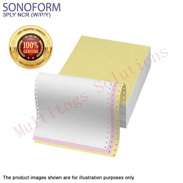 SONOFORM computer form 9.5x11 3ply ncr (w/p/y) 300sets