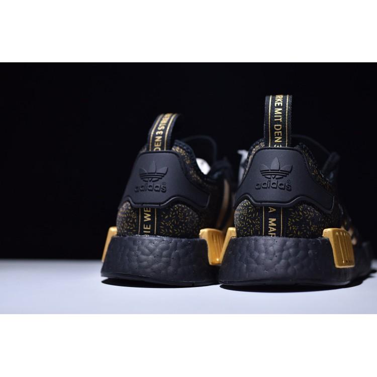 9ca7b24f4 VERSACE x Adidas NMD R1 Black Gold BA7250