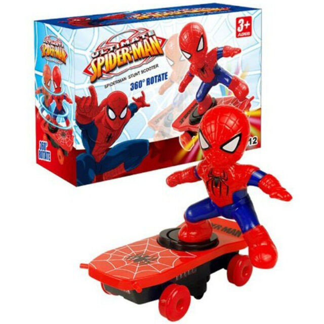 Dance Hero Light Music 360 Rotation Super Heroes Stunt Scooter Skateboard Remote Control Car Toys for Boys