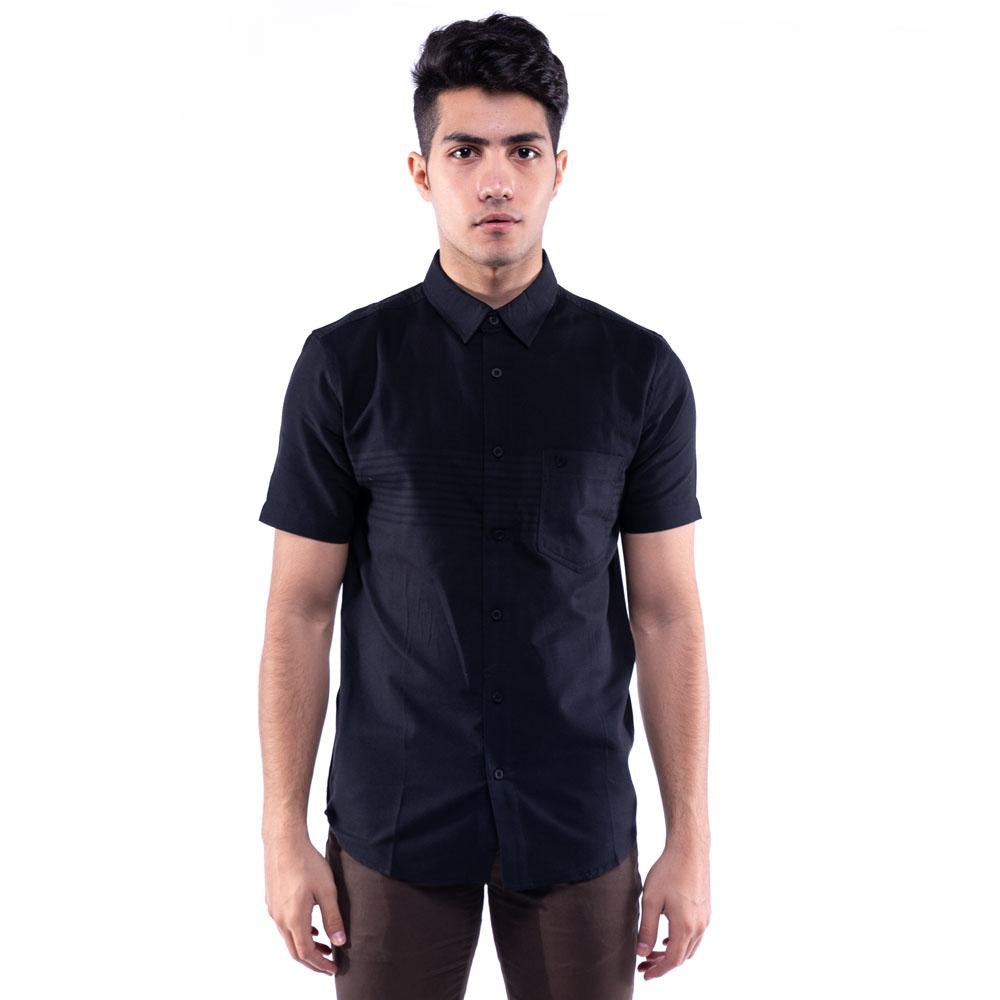 Rav Design 100% Cotton Woven Shirt Short Sleeve Navy Blue  RSS31433202
