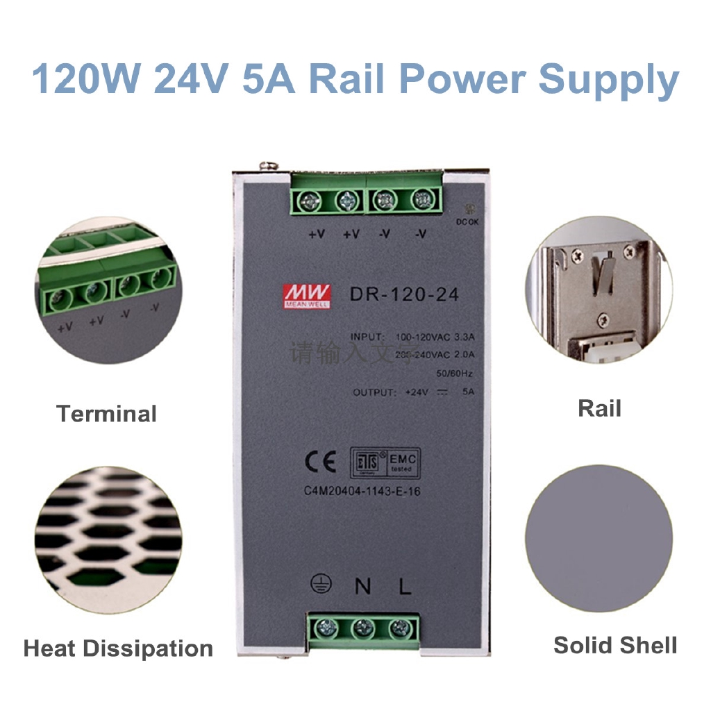 48v 21a 100w Din Rail Single Output Ac Dc Power Supply For Cctv Led 24v 65a Lp 100 48 Shopee Malaysia