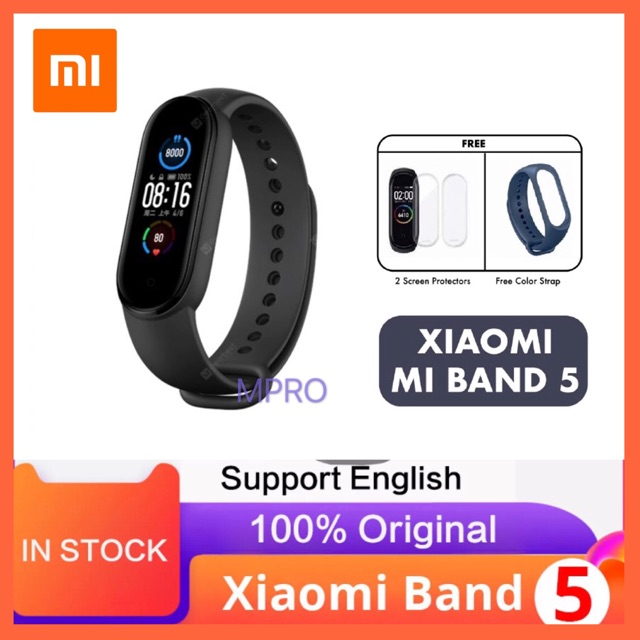 "[11.11 PROMO] Xiaomi Mi Band 5 Heart Rate Monitor miband 5 Fitness 11 sport mode 1.1"" AMOLED"