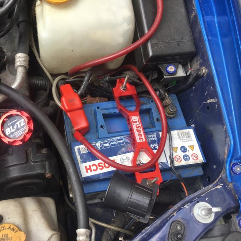 22cm Aluminum Car Battery Tie Down Holder Mount Bracket Brace Bar Billet Random